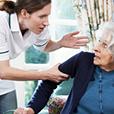 Older Woman Being Verbally Abused by Caretaker